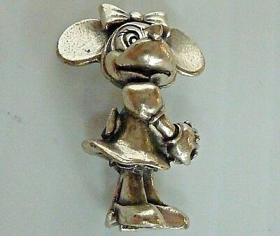 Minnie Mouse Sterling Silver Large Charm Or Pendant