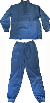 Singapore Airlines First Class Lounge Suit Pyjamas Sleep Set Blue Small, Med Lge