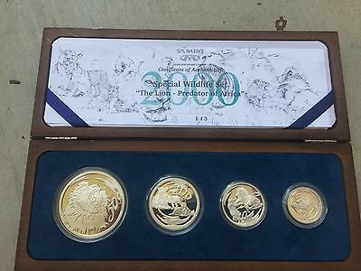 "2000 South Africa 4 coin LION ""Natura"" set silver"