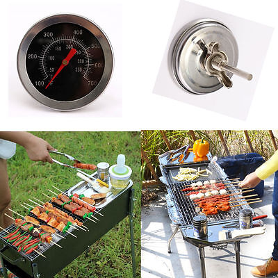 1Pcs 100-700℉ Outdoor Camping BBQ Grill Thermometer Gauge Stainless Steel