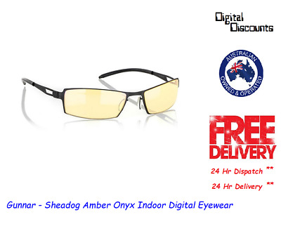 Gunnar - Sheadog Amber Onyx Indoor Digital Eyewear