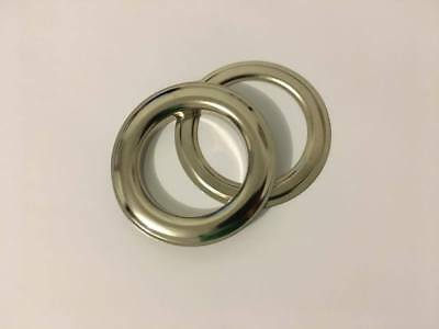 50pk 40mm Silver Metal Eyelet Rings - Grommets and Washers for Curtains