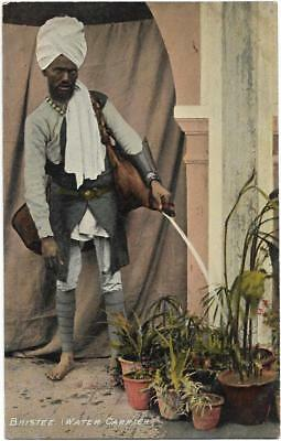 PC INDIA BHISTEE WATER CARRIER  INDIAN ETHNIC DRESS / UNIFORM BY M DHUR  c1908