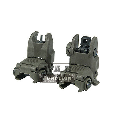 Tactical Gen 2 Folding Up Back Up Sight Set Front & Rear Sight Flip Up BUIS