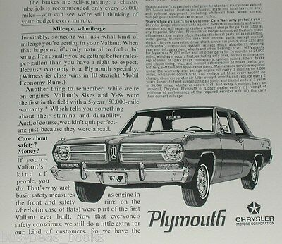1967 Plymouth 2-page advertisement, Plymouth Valiant