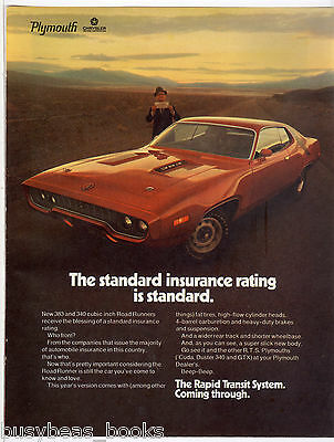 1971 Plymouth ROAD RUNNER advertisement, 383 engine