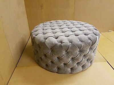 Hair & Beauty Salon Padded Front Shop Round Pouffe / Footstool