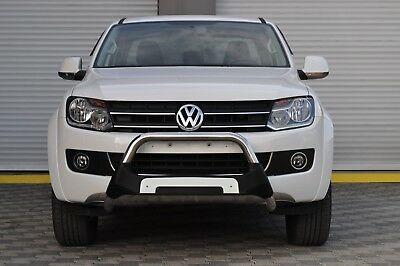 Vw Amarok Chrome Axle Nudge A-Bar, Polyurethane Bull Bar 2010-2015