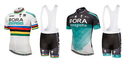 2018 Bora Hansgrohe Cycling Kit Short Sleeve Jersey Bib Shorts Set Peter Sagan
