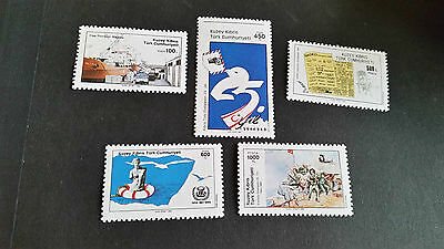 Turkish Cyprus 1989 Sg 264-268 Anniversaries Mnh