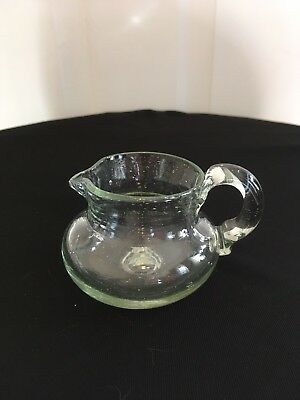 Vintage Hand Blown Glass Pitcher Small