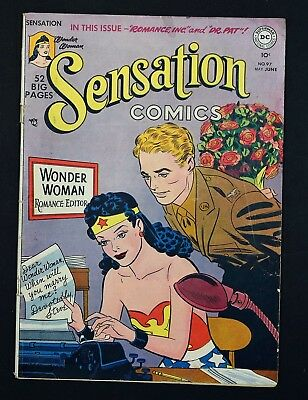 1950 Sensation Comics # 97 DC WONDER WOMAN Vintage 50's Movie Rare One Complete