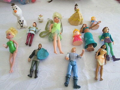 Mixed Lot of 12 Disney Princess & other Characters Mini Doll Figures   #4