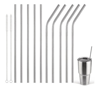 4x Stainless Steel Metal Drinking Straw Reusable Straws Stag Cocktail Party Uk