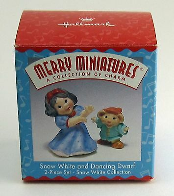 SNOW WHITE & DANCING DWARF Hallmark Merry Miniatures 2 Pc Set Snow White Collect