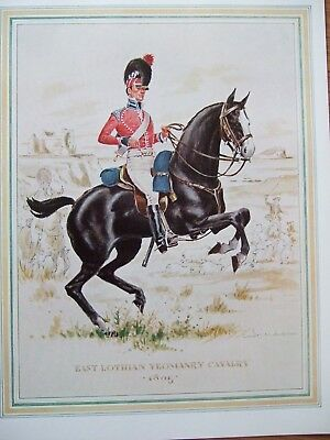 Military Print- East Lothian Yeomanry Cavalry 1805 - By Douglas N Anderson