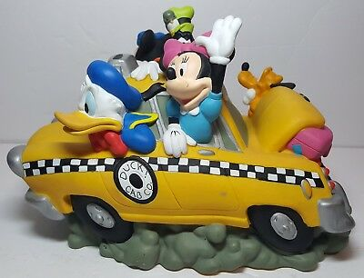Disneys Fab 5 cab Coin Bank Mickey Minnie Donald Goofy Pluto Taxi fab 5 bank