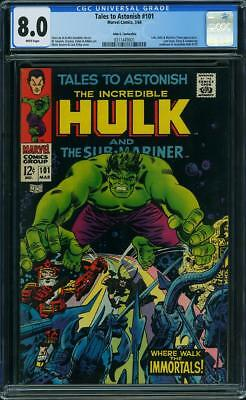 TALES TO ASTONISH #101, CGC 8.0 JOHN G. FANTUCCHIO PEDIGREE / White Pages
