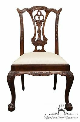 MAITLAND SMITH Solid Mahogany Ball & Claw Chippendale Side Chair