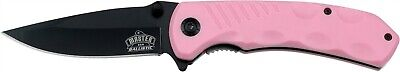 MASTER USA Pink STRAIGHT Black Assisted LINERLOCK Folding Knife New! MU-A002PK
