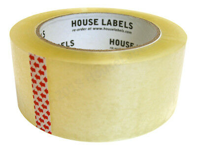 "2 Rolls of HouseLabels 2"" x 110 yds 330 ft 2mm Packing Shipping Sealing Tape"