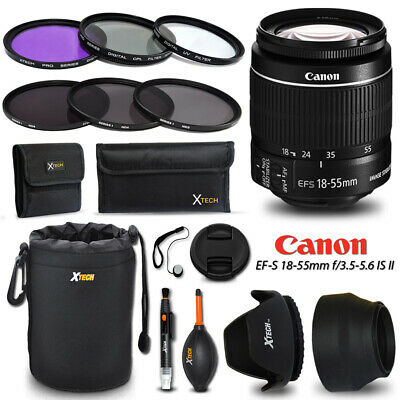 Canon EF-S 18-55mm f/3.5-5.6 IS STM f/ Canon EOS Rebel T6i + Accessories KIT