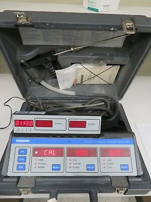 Rosemount Series 500 Portable Combustion Analyzer w/ Case & Accessories - MW6