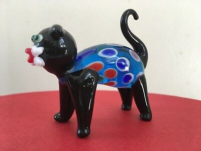 Fitz & Floyd Binks Glass Cat Figurine w/ Original Box