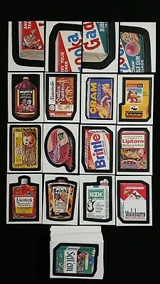 1986 Topps Wacky Packages Complete 77 Sticker Set