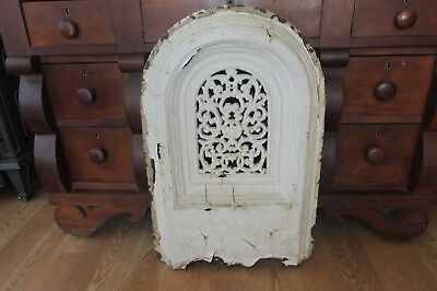 Vintage Cast Iron Fireplace Mantle Fireback Fire Screen Summer Cover #2158FR