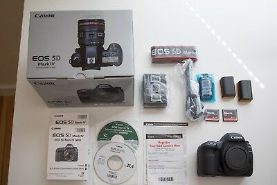Canon EOS 5D Mark IV 30.4MP Digital SLR Camera -MINT with EXTRAS & FREE Shipping
