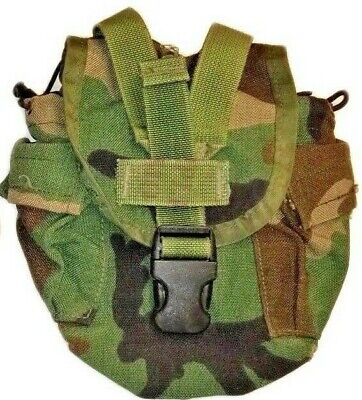 USGI MOLLE II 1 QT Canteen Cover / Utility Pouch Woodland Camo (1) one pouch gd