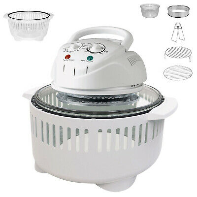 Deluxe Halogen Convection Air Fryer Oven Kitchen Roaster Extended Ring 12-17L