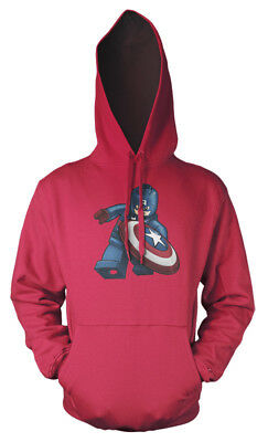 Lego Captain America Avengers Superhero mash up Kids Hoodie