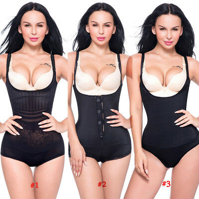 Women Latex Full Body Shaper Waist Trainer Cincher Corset Shapewear Tummy ACD