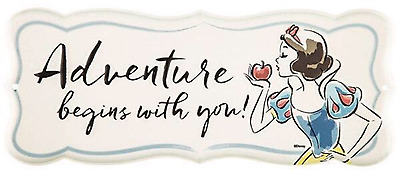 Snow White Adventure Begins with You Wall Plaque Children's Room Decor FREE SHIP