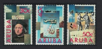 Aruba 500th Anniversary of Discovery of America by Columbus 3v SG#114-116