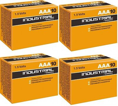 40 x Duracell AAA Industrial 1.5V Alkaline battery procell MN2400 LR3!!