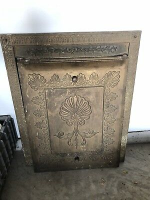 ANTIQUE CAST IRON FIREPLACE SURROUND And Cover