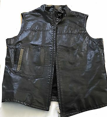 Rudsak Vest Leather Motorcycle Gear Ladies Zip Up Sleeveless Outdoor Size Large