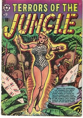 Rare Terrors of the Jungle #9 L. B Cole Jungle Girl Cover VG++ GGA Headlight Cov