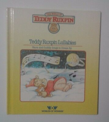 Vintage 1985 Teddy Ruxpin Lullabies Book Only Great Cond 80s Toy Free Shipping