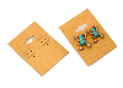 Package Of 100 Natural Color Kraft Earring Cards 2 x 1.5 Inch