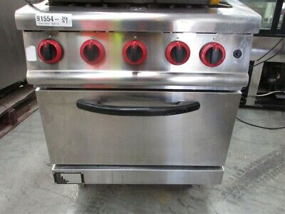 Four 4 Gas burner stove with gas oven NAT nature gas