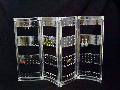 Acrylic Earring Folding Display Holds Up To 216 Pair SALE