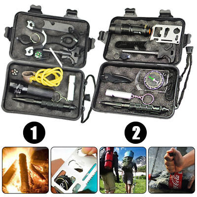 Outdoor Emergency Survival Equipment Kit Sports Tactical Hiking Camping Tool Kit