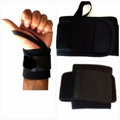 Weight Lifting Wrist Wraps Bandage Hand Support Gym Straps Brace Cotton With