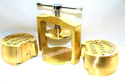 Premium Dental Laboratory Single  Lab Press Compress W/two Brass Denture Flask