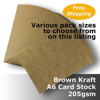 Kraft Brown ReCycled Enviro Card A6 Size 205gsm #S0102