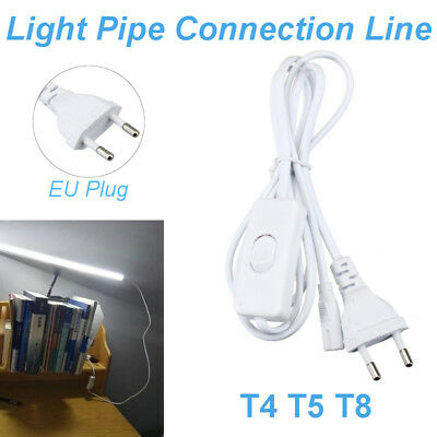 T4 T5 T8 Tube Connector Cable Cord Plug For LED Fluorescent Lamp Grow Light Bar